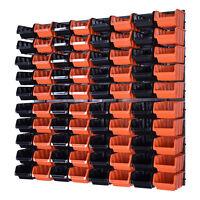 80 Boxen mit Montagewand Lagersichtboxenwand Stapelboxen Werkzeugwand
