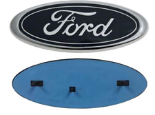 """Ford 9"""" x 3.5""""  OVAL BLACK LOGO Emblem  2004-2016 Grille and/or Tailgate"""