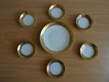 Hutschenreuter Porzellan Prunkschale Anbietschale mit 6 Küps  Gold