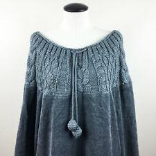 P14 Soft Surroundings Wool Sweater Sz Medium Womens Gray Knit