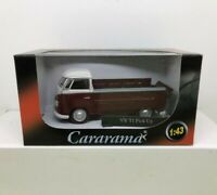 CARARAMA 1:43 SCALE VW T1 PICK UP BURGANDY / WHITE DIE CAST