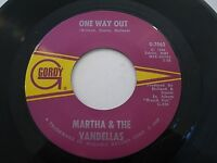 Martha Reeves & The Vandellas One Way Out / Love Bug 45 1967 Gordy Vinyl Record