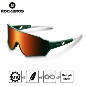 2020 ROCKBROS Polarized Cycling Sunglasses Goggles Photochromatic Hiking Glasses