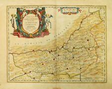 DIOECESIS SARLATENSIS Dordogne River Valley Wine Map Willem Blaeu c.1635