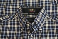 Paul & Shark Yachting Blue White Check Plaid Cotton Button Up Shirt Sz 40 Italy