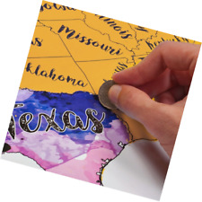 Scratch Off Map USA Travel Watercolor Educational Maps Mark For Travelers