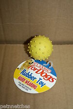 CLASSIC PIMPLE RUBBER BALL/BELL DOG CHEW TOY HARD WEARING SMALL/LARGE NEW!
