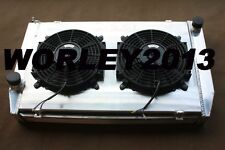 Aluminum radiator + shroud + fans for FORD Falcon XC XD XE XF V8 & 6 cylinder MT
