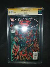 SUPERMAN BATMAN #37,VARIANT CGC 9.8,SIGNED CASTELLINI & VICENS,A GEM,ONLY$185!