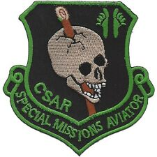 """USAF 33rd Rescue Squadron """"CSAR"""" SPECIAL MISSIONS AVIATOR MILITARY PATCH"""