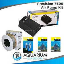 Aquarium Air Pump Kit - Aqua One 7500 Precision -5m Airline Check Valve Airstone