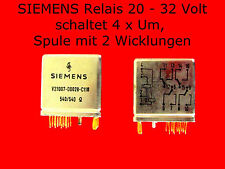 SIEMENS Relais 20-32 V. vergold. Kont. & Anschl. bistabil 4 x Um Universalrelais