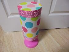 Mud  Pie  Pink with Multi Colored Polka Dot Headband Holder 15 H x 5 W