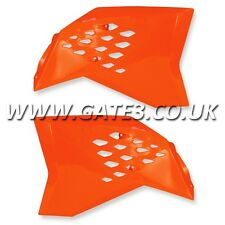 KTM 125SX SX 125 2007-2010 ORANGE RADIATOR RAD SCOOPS MOTOCROSS MX PLASTICS