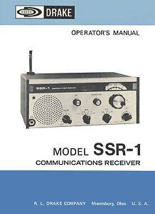 R.LDrake Drake SSR-1 SSR1 Communication Receiver Manual