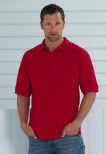 Poloshirt Herren Russel Übergröße: 3XL 4XL Shirt Polo 65/35 Mischgewebe 215 g/m²