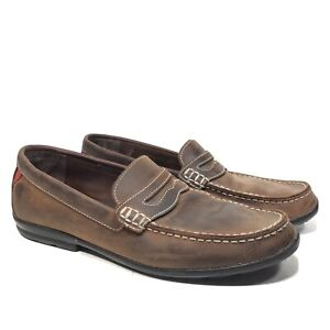 FootJoy Club Casuals Brown Leather Spikeless Golf Loafers Men's Size 10.5M 79011