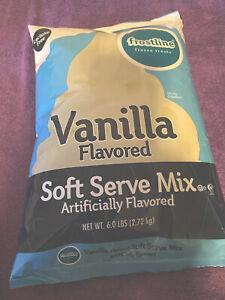 Frostline Vanilla Soft Serve Ice Cream Mix, 6 Pounds 96 Ounce LACTOSE FREE