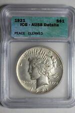 1921 Peace Silver Dollar ICG AU58 Details