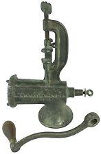 Antique Cast Iron Enterprise MFG No 10 Tinned Kitchen Tool Meat Chopper Grinder