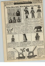 1940 PAPER AD Toy Celluloid Dolls Soldier Navy Navel Officer Cadet Finger Puppet