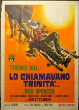LO CHIAMAVANO TRINITA' Bud Spencer, Terence Hill MANIFESTO 4F S. WESTERN POSTER