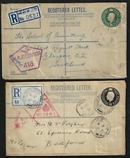Uk Gb 1915 Registered 2p & 3p Field Po 110 & 232 Fee Paid Marking Double Censore