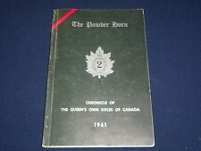 1961 THE POWDER HORN CHRONICLES OF QUEEN'S OWN RIFLES OF CANADA BOOK - II 6151