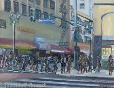 Broadway & 6th Los Angeles Plein Air Impressionism Cityscape John Kilduff