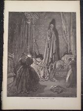 Artist Gustave Dore Don Quixote Bless Me She Cried Engraving 1870s