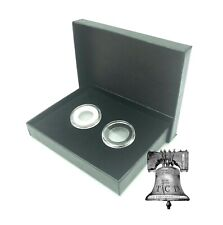 Air-tite Coin Holder Black Box Silver Insert + Model A Storage Capsule Case