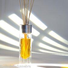 ESTEBAN Vaso diffusore profumo casa per bacchette in vetro e alluminio spazzolat