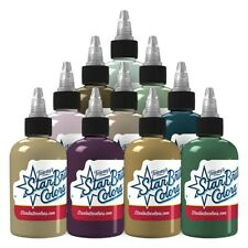 Starbrite Tattoo Ink Undertones Series Set 10 Bright Color 2 oz Bottle Size USA