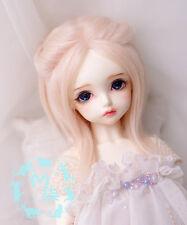 """7-8"""" 18-19cm BJD Fabric Fur wig Soft Pink For 1/4 BJD Doll MSD DOC DZ LUTS"""