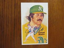 """JIM  """"CATFISH""""  HUNTER (Died in 1999)Signed  Perez-Steele  Hall of Fame Postcard"""