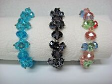 Lot of 3 NEW crystal beads BRACELETS faceted rhinestones * choice *