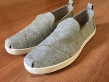 Toms Deconstructed Alpargata Washed Twill Flats - Women's Size 8 - Drizzle Grey