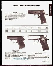 1988 IVER JOHNSON 380 Pony, Pocket TP22 TP25, Double Action 9mm Auto Pistol AD