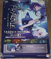 RARE Fragile Dreams Farewell Ruins of the Moon Wii Promo Poster Nintendo Namco