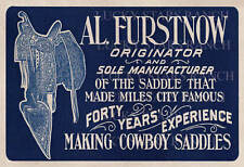 Al Furstnow Saddle Shop Sign/Print 13x19 - Vintage Image