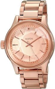 Nixon Unisex Facet A384897-00 42mm Rose Gold Dial Stainless Steel Watch