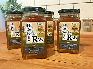 1.6kg Nothing But Honey RAW Australian Honey (4x 400g glass jars) | No Additives