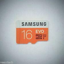 Samsung EVO 16GB microSD SDHC UHS-1 class10  48MB/S Speicherkarte MB-MP16D NEU