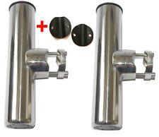 Porte Canne inox Pour Tube 22/25mm ( Lot de 2 ) Orientable inox Pèche Bateau