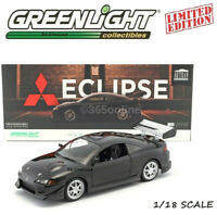 Greenlight 1995 MITSUBISHI ECLIPSE BLACK 1/18 DIECAST MODEL CAR 19040