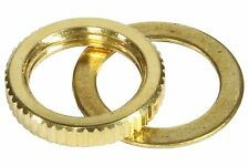 Toggle Switch Nut and Washer Metric Fine Knurl M12 x 1.25 - Gold