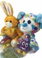 Easter Basket Filler Lot Wind Up Poop Toys Bunny Plush Big Eyed