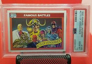 1990 Marvel Universe Acts Of Vengeance PSA 10 GEM MINT Impel #105