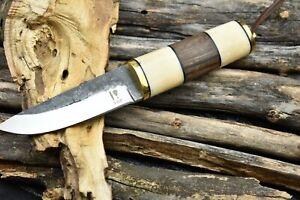 Custom Handmade 1095 High Carbon Steel Outdoor Bushcraft Puukko Knife Survival