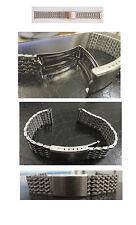 acier inox Bracelet pour montre 18 mm Fermoir à Boucle Déployante Neuf